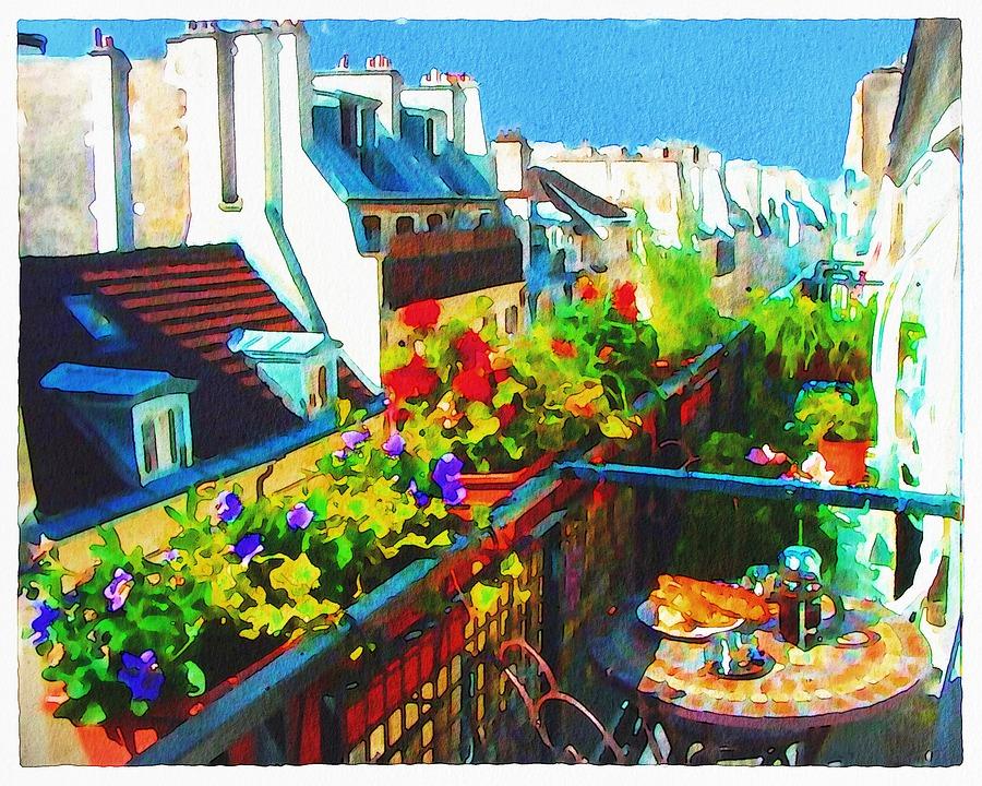 balkon v Paříži