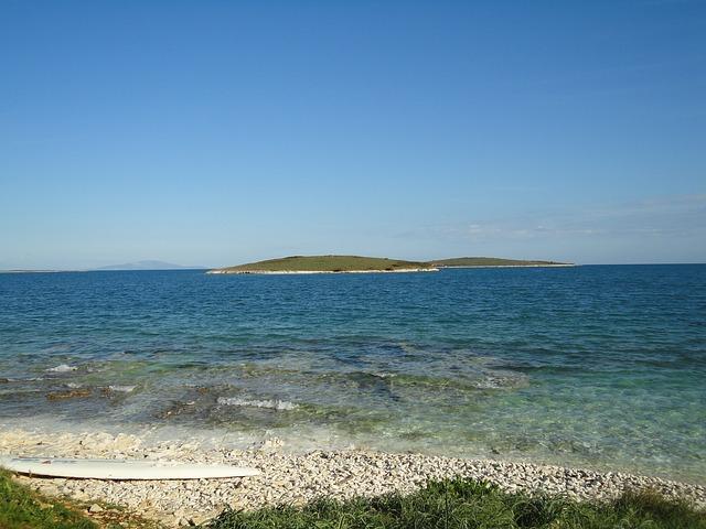 moře, surfovací prkno, ostrov
