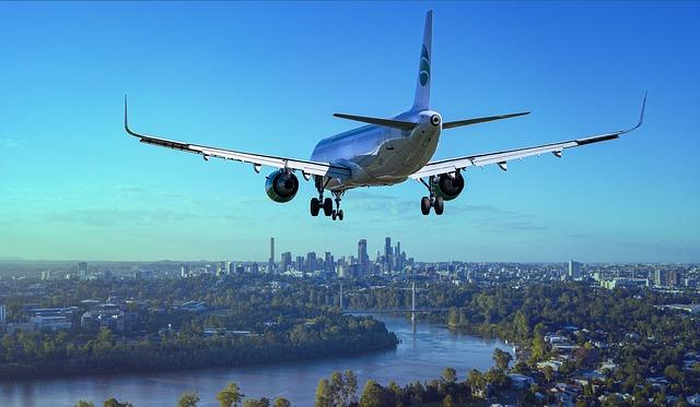 přistávájící letadlo