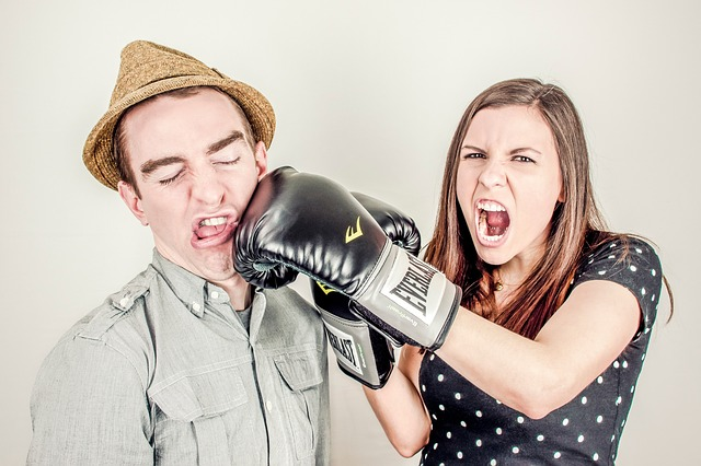 hádka mezi partnery