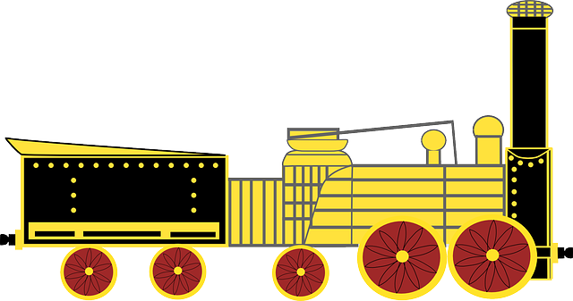 žlutá lokomotiva, vláček